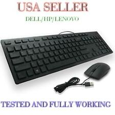 Used Mouse/Keyboard USB Wired Genuine Working *USA Seller* Dell/HP/Lenovo TESTED