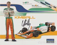 2011 Charlie Kimball signed Novo Nordisk Honda Dallara Indy Car postcard