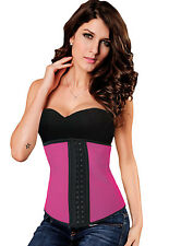 Hot Pink Latex Waist Trainer Cincher Corset SweatBelt Lingerie X Large XL 5375