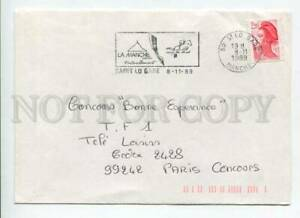 421412 FRANCE 1989 year HORSE equestrian sport ADVERTISING Saint lo Gare  COVER