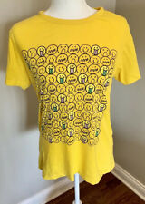Barbie Girls Made In Korea Emoji Smiley T Shirt Tee Women's Juniors Size Medium