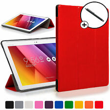 Forefront Cases® Red Folding Smart Case Cover for ASUS Zenpad Z300C + Stylus