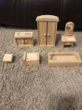 Plan Toys Wooden Dollhouse Furniture