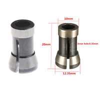 """6.35mm 1/4"""" Alloy Trimming Collet Chuck Engraving Machine For Bakelite Mill gf"""
