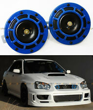 FOR SUBARU IMPREZA WRX STi GC8 GDB BLUE 12V GRILL MOUNT COMPACT SUPER LOUD HORN