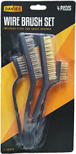 1X 4 Heavy Duty Copper & Steel Wire Brushes Cleaning Paint Tool Metal Brush