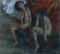 "Russischer Impressionist Aleksej Grachov Öl Leinwand ""Akt"" 130 x 120 cm"