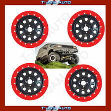 "Bead Lock Simulator Kit Fits 16"" Wheels 4WD OFF ROAD Set of 4 Red"