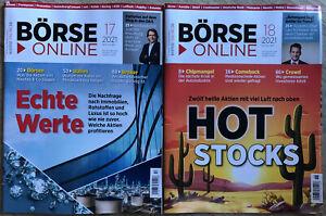 Börse Online 2 Stück - Ausgabe 17 & 18 Mai 2021 Hot Stocks Broker Depot