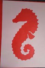 Schablone 1134 Seepferd Tattoo Stencil Leinwand Textilgestaltung Airbrush Engel