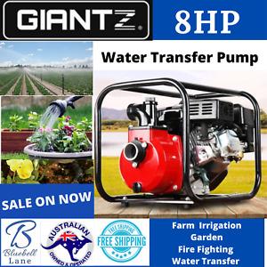 "Giantz 8HP 2"" Petrol High Flow Water Transfer Pump Fire Fighting Irrigation Farm"