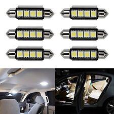 Ralbay 6 x Ultra White 42mm Festoon LED Bulbs Error Free 212-2 211 578 Car Inter