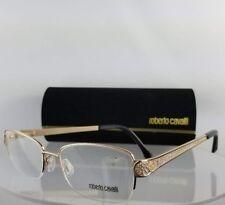 Brand New Authentic Roberto Cavalli Eyeglasses Rotanev 946 A28 Gold Frame