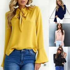 2017 moda da donna, estate manica lunga casual maglia larga tinta unita top