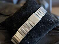 Gents Vintage Stainless Steel Link Bracelet Adjustable Watch Strap - 18mm