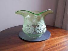 "Duplex 4"" Fitting Glass Oil Lamp Shade - Tulip Shape. Green Glass"