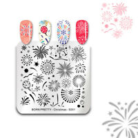 BORN PRETTY Nail Stamping Plate Square Nail Art Stamping Template Christmas S001