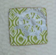 "Thro Marlo Lorenz Nautical Green Silver Pillow Cover Square 17"" NO INSERT"