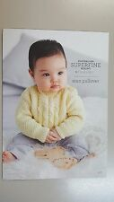 Cleckheaton Pattern #436 Aran Pullover for Baby to Knit With Superfine Merino
