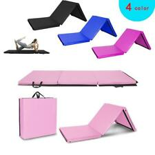 6'x2' Heavy Duty New Folding Panel Gymnastics Mat Gym Exercise Yoga Tri Mat Pad