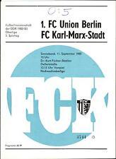 OL 82/83 FC Karl-Marx-Stadt - 1. FC Union Berlin