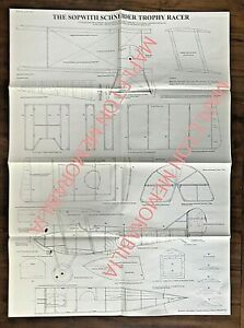 SOPWITH SCHNEIDER TROPHY RACER 1:13 SCALE PLAN BY MIKE ROACH