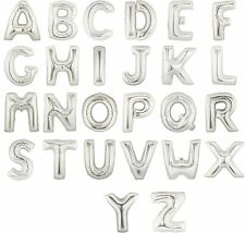 """40"""" 34"""" FOIL LETTER BALLOONS 34 or 40 INCH HELIUM ALPHABET SILVER + FREE THREAD"""