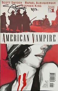 American Vampire #1 & 2 (W/COA) Signed by Scott Snyder  Vertigo DC Comics 2010