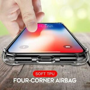Case For iPhone 13  Pro Max 12 11 X XR 7 8 CLEAR Gel Shock proof Silicone Cover