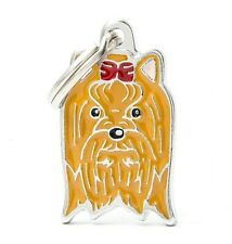 Yorkshire Terrier Dog ID Tag (07N) - Engraved FREE - Personalised Charm Keyring