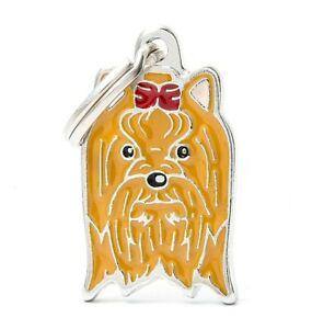 Yorkshire Terrier Dog ID Tag (07N) - Engraved FREE - Personalised Charm Keyring