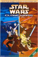 STAR WARS CLONE WARS MOVIE POSTER Original 27x40 One Sheet DVD VOL1&2 ANIMATION