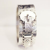 Antique Victorian Sterling Silver hinged buckle bangle, with Hallmarks