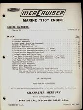 1967 MERCURY  MERCRUISER 110 MARINE ENGINE  PARTS MANUAL / ORIGINAL