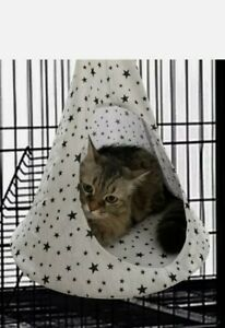 Cat Hammock Summer Cat Cage Swing Hanging Bed Conical Tent Pet Dog House rrp £17