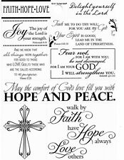 Faith Hope Love Peace Religious Bible Verse Clear Phrase Scrapbook Stickersq