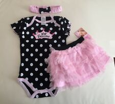 NEW Baby Kids Girls Pink LIL PRINCESS Tutu Party Dress 3PC SET Size 9M 12M 18M