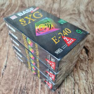 6x BASF SXG E-240 Min., VHS Videokassetten, Neu