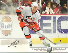2006-07 BAP PORTRAITS -  ERIC STAAL -  AUTOGRAPHED 8 X 10 PHOTO