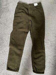 Topshop Mom Khaki Cord Jeans W28 L30 Brand New Tags