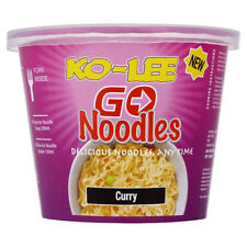 Ko-lee Go Cup Pot Noodles Curry Flavour 65g x 6 Pack | Folk in each Tub