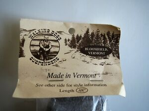 """Walking Boss Suspenders Made In Vermont 48"""" Gray 2"""" New"""