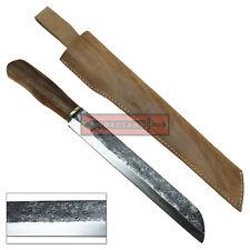 High Carbon Steel Machete Knife Textured Sheepsfoot Blade Solid Hardwood Handle