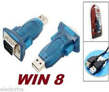 USB TO SERIAL RS232 ADAPTER/CONVERTER WINDOWS 8 7 10 FTA +CD CABLE DB9 64 BIT