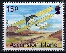 Royal Navy FAIREY SWORDFISH Biplane Aircraft Stamp (2013 Ascension Island)