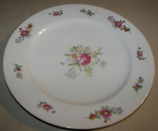 """Silver China Dinner Plate 10 1/4"""" Made in Occupied Japan Vintage"""