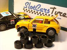 12 pneus pour  Carrera SERVO 140 années 70-80