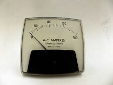 53-100LSRL AO-92 GENERAL ELECTRIC AC AMPERES PANEL METER 200 AMPS