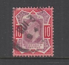 Great Britain Sc 137e used 1906 10p carmine & dull purple Kevii on chalky paper