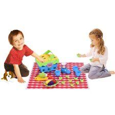 Prentend Play Delicious Picnic Basket Toy Puzzle Juice Machine Set Kit For Kids